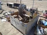 Lot Of Antique Wheel Barrel & Misc Farm Equipment