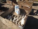 Wood Crate Of Jugs Of Liquid Turf Supplement