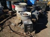 Lot Of Ball Bearing Tool Box Rims & Transmission