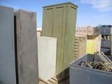 8' Tall Metal Cabinet & 4' Metal Filing Cabinet