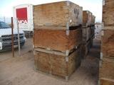 (3) 4'x4'x2' Wooden Crates