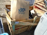 Crate Of Plastic Garage Shelving, Spray Bottles,