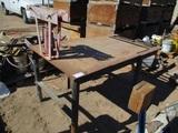 4'x6' Metal Table W/18-Ton Hydraulic Pipe Bender