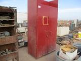 4'x2'x7' Metal Cabinet W/Misc Shop Parts & Tools