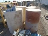 (4) Large Plastic Barrels
