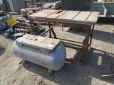 Air Tank & Steel Shop Table