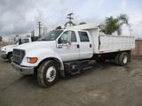 2001 Ford F650 SD Crew-Cab S/A Debris Dump Truck,
