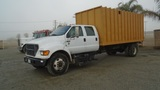 2003 Ford F650 SD S/A Crew-Cab Chipper Truck,