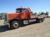 2000 Peterbilt 379 T/A Flatbed Truck,