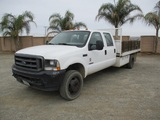 2003 Ford F550 XL SD Crew-Cab Flatbed Truck,