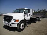 2000 Ford F650 S/A Flatbed Truck,