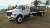 2006 Ford F650 XL SD S/A Flatbed Truck,