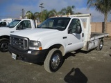 2004 Ford F550 XL SD S/A Flatbed Truck,