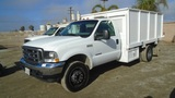 2003 Ford F550 SD S/A Flatbed Truck,