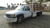 2005 GMC 3500 S/A Flatbed Truck,