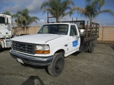 Ford F450 S/A Flatbed Stakebed Truck,
