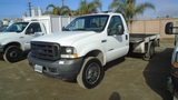 2002 Ford F550 SD S/A Flatbed Truck,