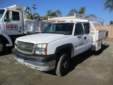 2004 Chevrolet 3500 Extended-Cab Flatbed Truck,