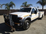 2008 Ford F550XL Crew-Cab Utility Service Truck,
