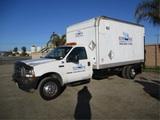 2002 Ford F550 S/A Box Truck,