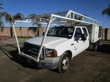 2005 Ford F350 XL Crew-Cab Flatbed Utility Truck,