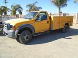 2006 Ford F550 XL SD Utility Truck,
