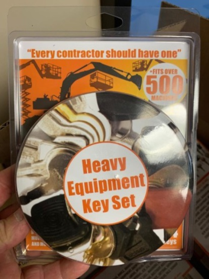 New Unused Heavy Equipment 24-Key Set,