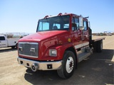 Freightliner FL80 Crew-Cab S/A Flatbed Fire Truck,