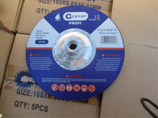 "Lot Of Unused 7"" Grinding Discs,"