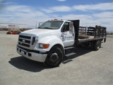 2006 Ford F650 XL S/A Flatbed Truck,