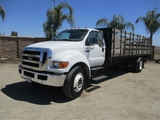 2005 Ford F650 S/A Flatbed Stakebed Truck,