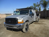 2000 Ford F450 Flatbed Utility Truck,