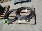 Lot Of (2) Steel Lifting Cables