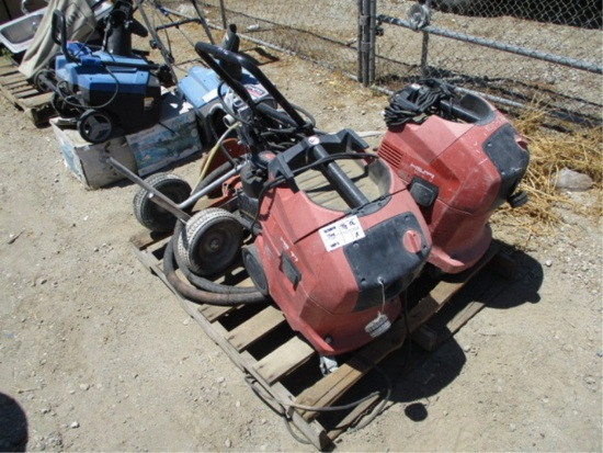 (2) Hilti VC40 Vacuums & Spraytech Paint Sprayers