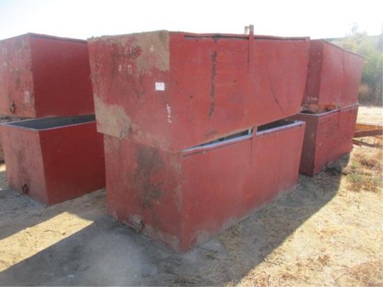 """(2) 8' x 4' x 3' 2"""" Metal Dump Bins"""