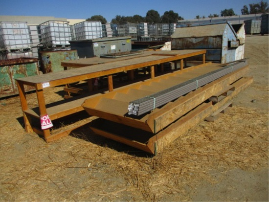 Lot Of (2) Wooden Shop Benches & (2) Wooden Stairs