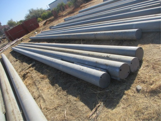 "(4) 10 1/2"" x 40' Galvanized Pipes"