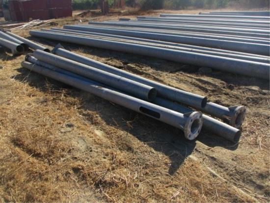 (7) Misc Size Galvanized Telephone Poles