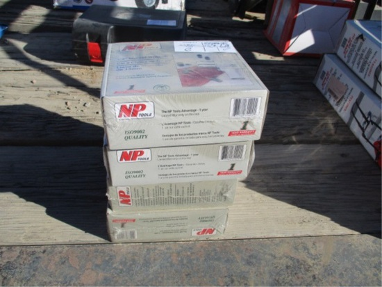 """Lot Of (4) NP 1/2"""" Air Impact Wrench Kits"""