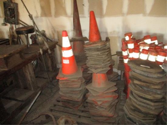 Lot Of Construction Cones,