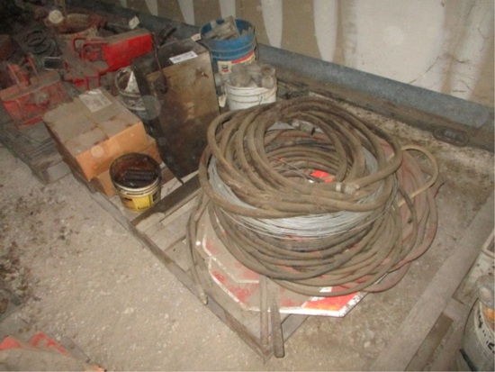 Lot Of Hydraulic Hoses, Air Hose, Oil Filters
