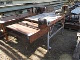 Metal Shop Table W/Wilton Vice & Electric Sander,
