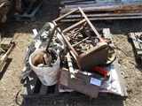 Lot Of Misc Chain, Hoists, Hitch & Misc Items