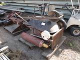 Lot Of Welding Tanks, Tank Dolly & Wheel Barrel