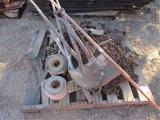 Pallet Of Chain, Binders, Hoist & Misc
