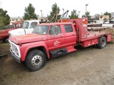 Ford F700 S/A Crew-Cab Flatbed Utility Truck,