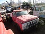Ford F7000 T/A Utility Flatbed Crane Lift Truck,