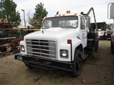 International S1800 T/A Utility Crane Lift Truck,