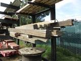 Lot Of (2) Metal Ramps & Bundle Of Misc Wood,