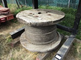 Spool Of Steel Cable,